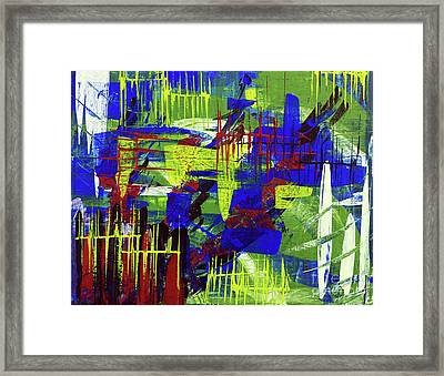 Framed Print featuring the painting Intensity II by Cathy Beharriell