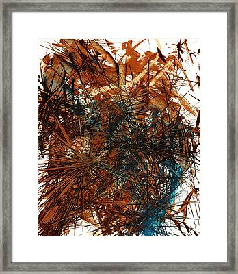 Intensive Abstract Expressionism Series 46.0710 Framed Print by Kris Haas