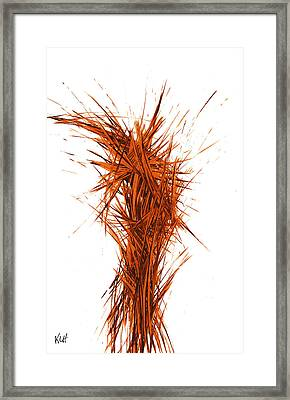 Framed Print featuring the painting Intensive Abstract Painting 1029.050512 by Kris Haas
