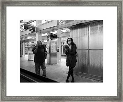 Interaction Framed Print