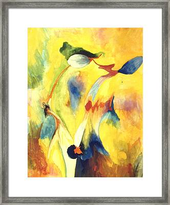 Interactions Framed Print by Peter Shor