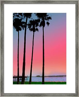 Intercoastal Sunset Framed Print by Bill Cannon