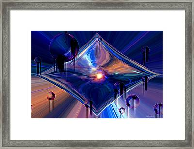 Interdimensional Portal Framed Print