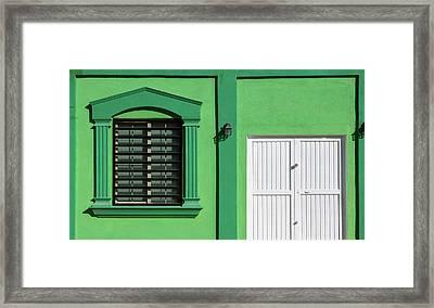 Interesting Doorways Framed Print by Jon Manjeot