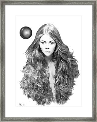 Framed Print featuring the drawing Interface by Brent Ander