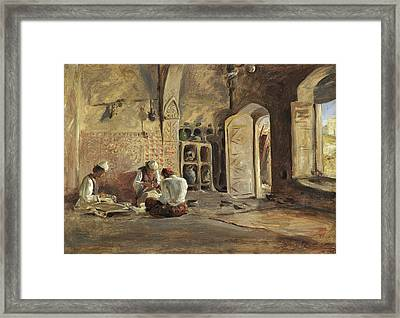 Interior, Algiers Framed Print by William Gale