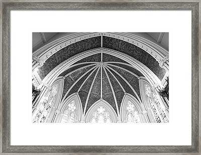 Interior Architecture Of A Church Framed Print