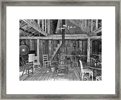 Interior Criterion Hall Saloon - Montana Territory Framed Print by Daniel Hagerman