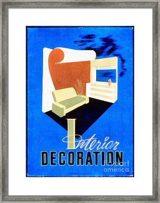Interior Decoration Vintage Wpa Poster Framed Print by Edward Fielding