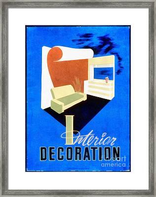 Interior Decoration Vintage Wpa Poster Framed Print