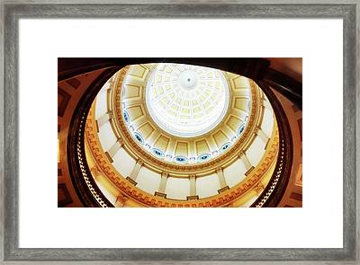 Framed Print featuring the photograph Interior Denver Capitol by Marilyn Hunt