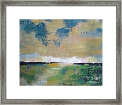 Meadow At Dusk Framed Print by Vesna Antic