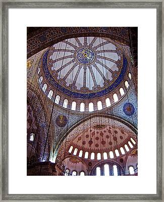Interior Domes Of The Blue Mosque Framed Print