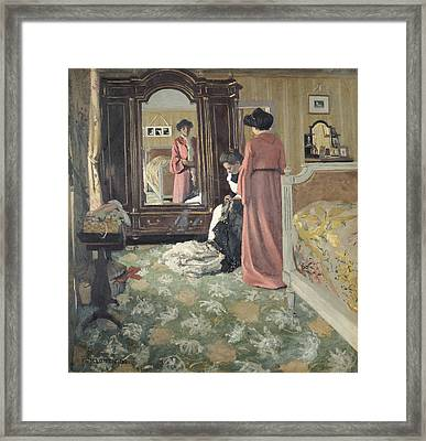 Interior Framed Print by Felix Edouard Vallotton