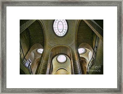 Interior French Louvre Framed Print by Chuck Kuhn