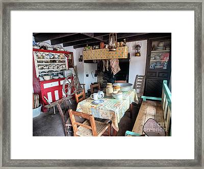 Interior From A Cottage In A Rural Irish Countryside Framed Print