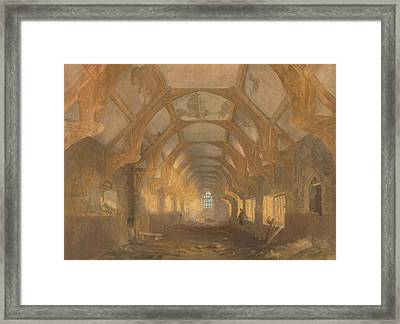 Interior Of A Dormitory Of The Ipswich Blackfriars At The End Of Its Period Of Occupation By Ipswich Framed Print by John Sell Cotman