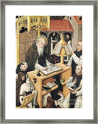 Interior Of A Scriptorium Framed Print
