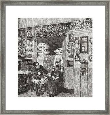 Interior Of A Typical Wooden House On Framed Print by Vintage Design Pics