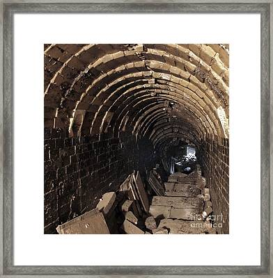 Interior Of An Old Pottery Kiln Framed Print by Yali Shi