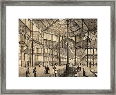 Interior Of New Borne Market Framed Print