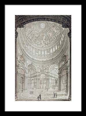 Religious Architecture Drawings Framed Prints