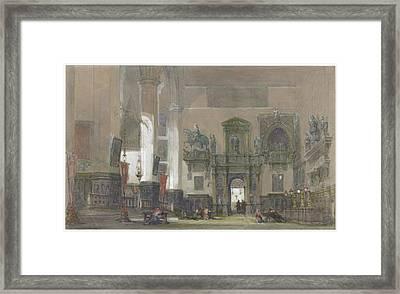 Interior Of Santi Giovanni E Paolo Framed Print by David Roberts