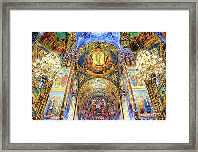 Interior Of The Church Of The Savior On Spilled Blood Framed Print