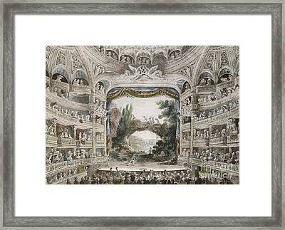 Interior Of The Comedie Francaise Theatre In 1791 Framed Print by French School