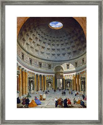 Interior Of The Pantheon Framed Print