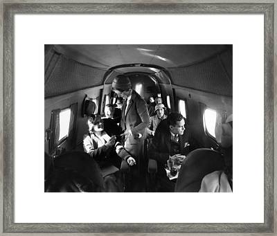 Interior Of United Airlines Boeing Framed Print