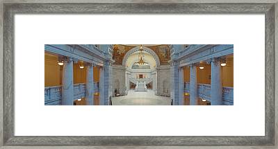Interior Of Utah State Capitol, Salt Framed Print