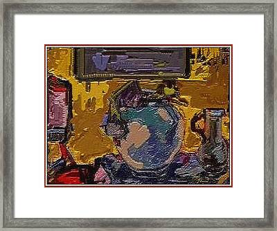 Framed Print featuring the digital art Interior by Pemaro