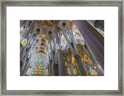 Interior- Sagrada Familia Framed Print by Chas Hauxby