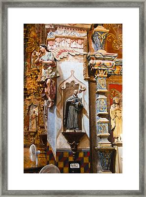 Interior San Xavier De Bac Mission Framed Print by Jon Berghoff