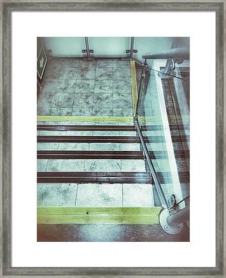 Interior Stone Stairs Framed Print by Tom Gowanlock