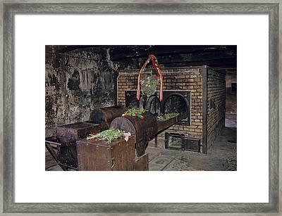 Interior View At Auschwitz Framed Print