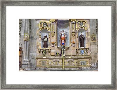 Interior View Of Church In Guanajuato Mexico Framed Print