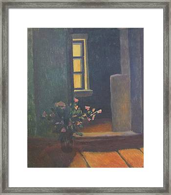 Interior With A Bouquet Framed Print