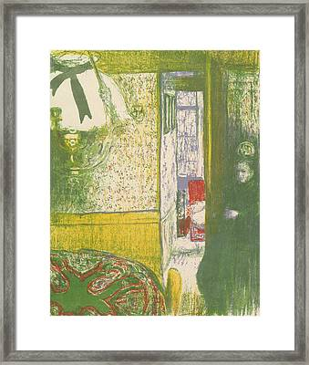 Interior With A Hanging Lamp, From The Series Landscapes And Interiors Framed Print