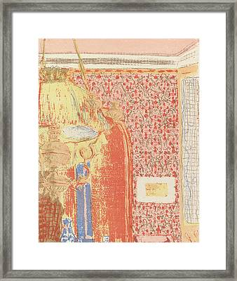 Interior With Pink Wallpaper II, From The Series Landscapes And Interiors Framed Print