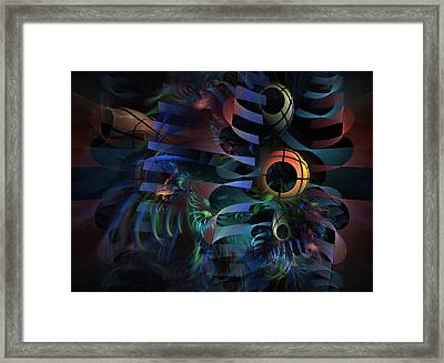 Framed Print featuring the digital art Interlude 1536 - Fractal Art by NirvanaBlues