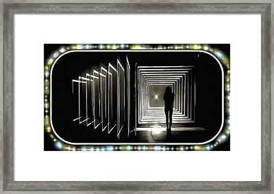 Intermission Between Gates Framed Print