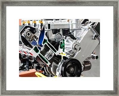 Internal Combustion Engine Framed Print by Nick Mares