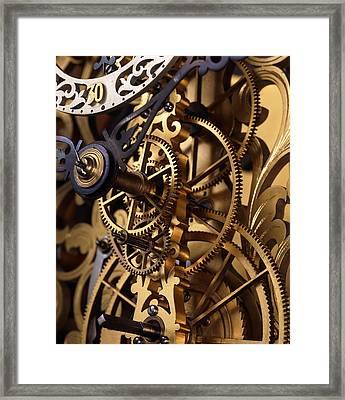 Internal Gears Within A Clock Framed Print