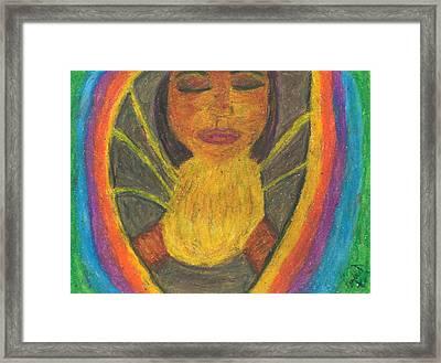 Internal Light Framed Print by Candace D Henry