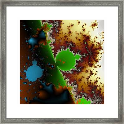 Internal Mandelbrot Blue Framed Print by Mark Eggleston