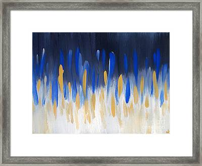 Internal Opposition Aka Maze N Blue Framed Print
