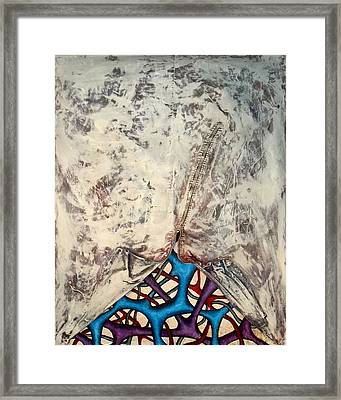 Internally Unzipped Framed Print by Nancy Mueller