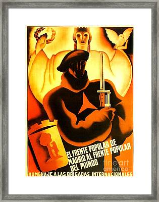 International Brigade Homage Framed Print